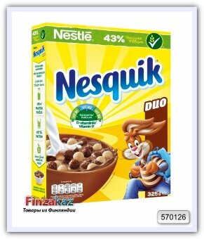 Хлопья с белым шоколадом  Nestle Nesquik Duo  325 гр