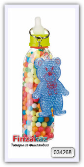 Сахарное драже Woogie Babybottle with sugar pearls and toy 100 гр