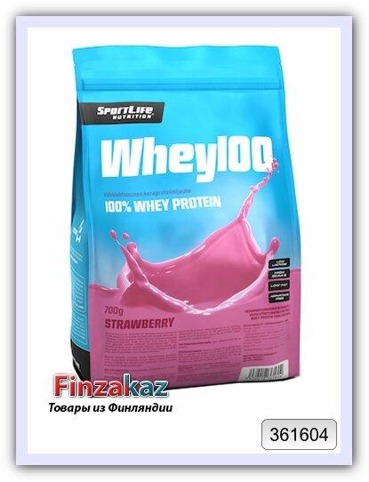 Протеин Whey100 SportLife Nutrition клубника 700 г