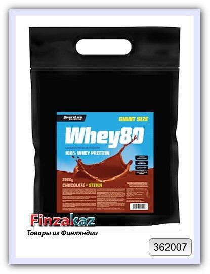 Протеин Whey80 SportLife Nutrition шоколад 3 кг