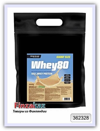 Протеин Whey80 SportLife Nutrition ваниль 3 кг
