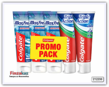 Набор зубных паст COLGATE Hammastahna 5 x 75ml Cool Mint + Triple Action
