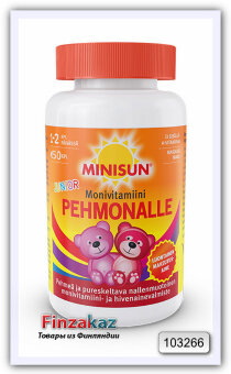 Поливитамины Minisun Pehmonalle Monivitamiini Junior