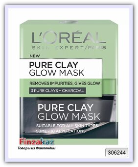 Маска для лица очищающая и детоксикационная Loréal Pure Clay 50 мл