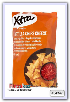 Чипсы X-tra Tortilla chips cheese (сыр) 450 гр
