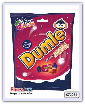Конфеты Dumle Seasonal Caram Cranb toffee 220 гр